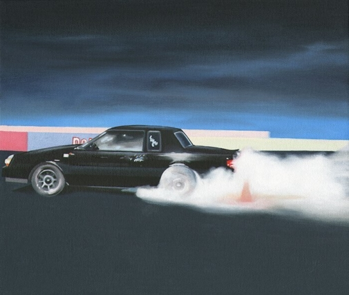 drag race car print by Elliott Chambers