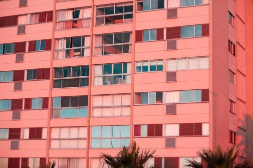 pink building photography by Gabriella Achadinha
