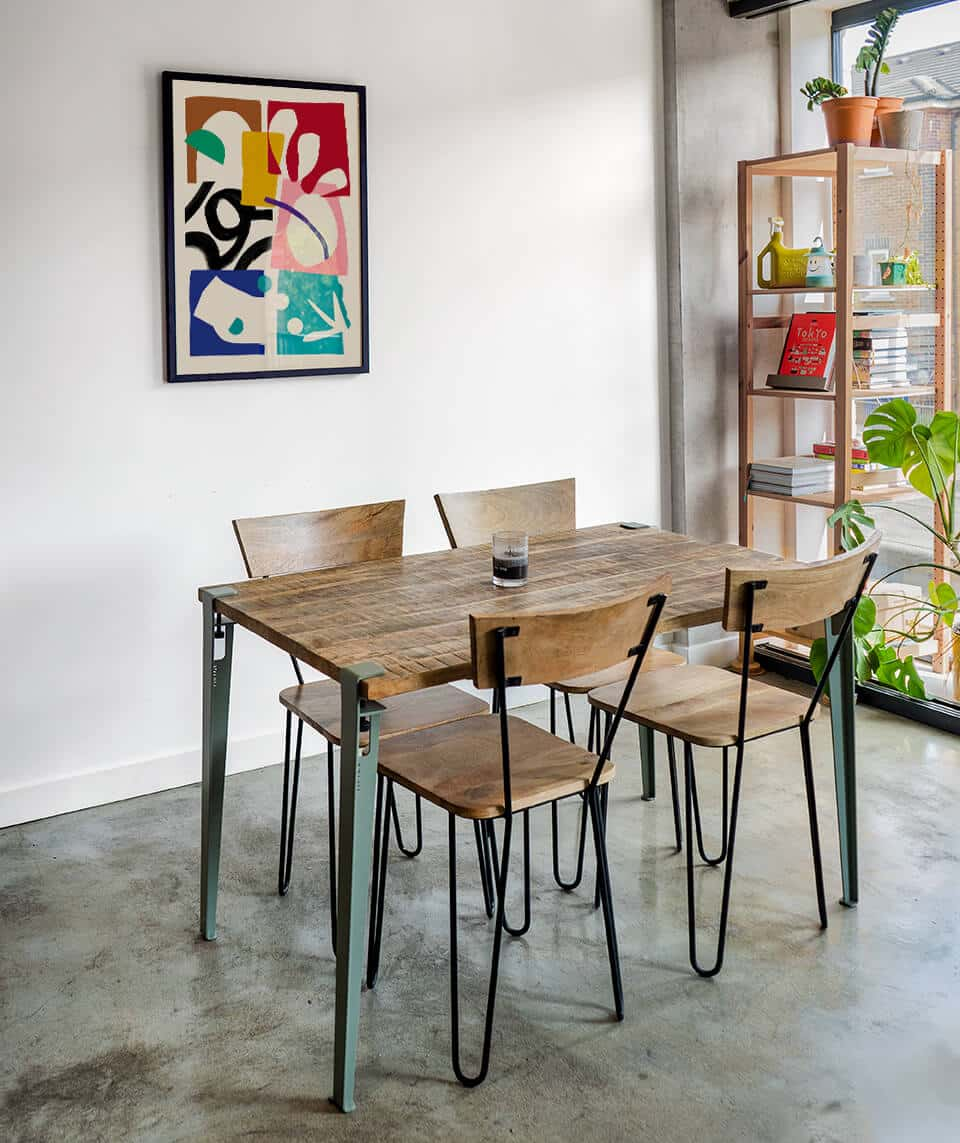 Stell Paper framed Artwork hung on the wall of a Modern london Flat