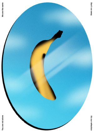 colourful contemporary banana art print