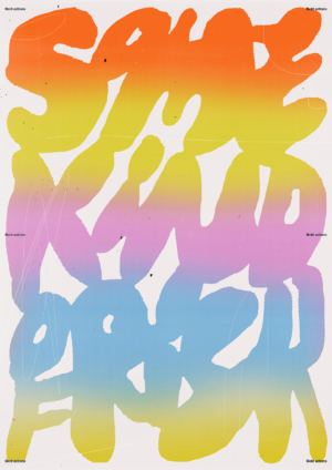 colourful typography art print