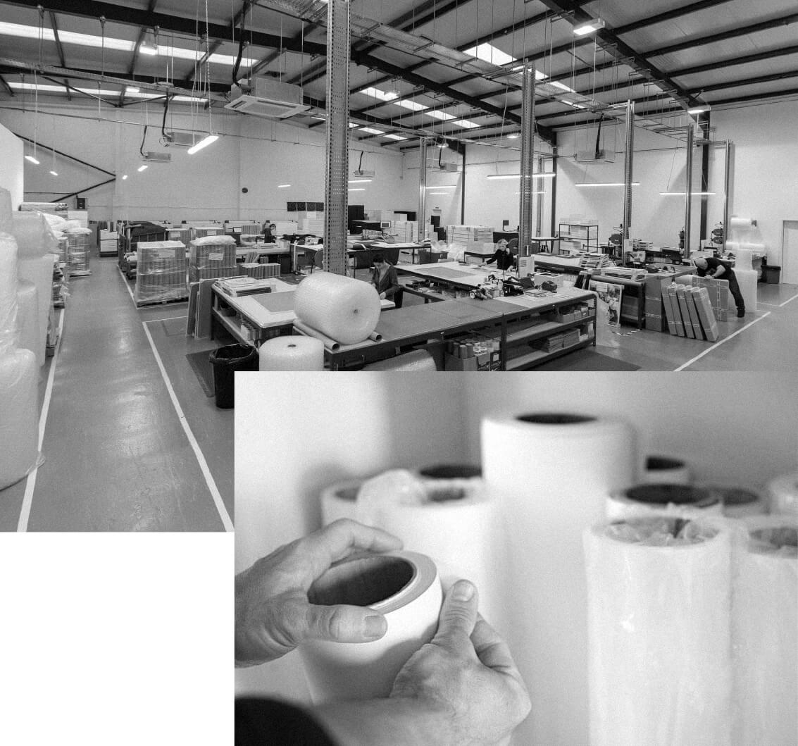 Photo of fine art print facilities and machinery