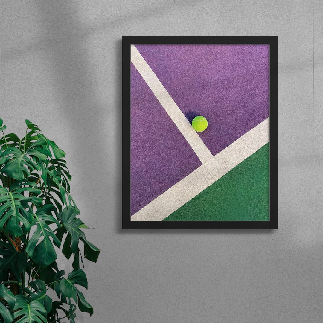 Colourful Tennis Court Art Print By Burak Boylu Framed Black