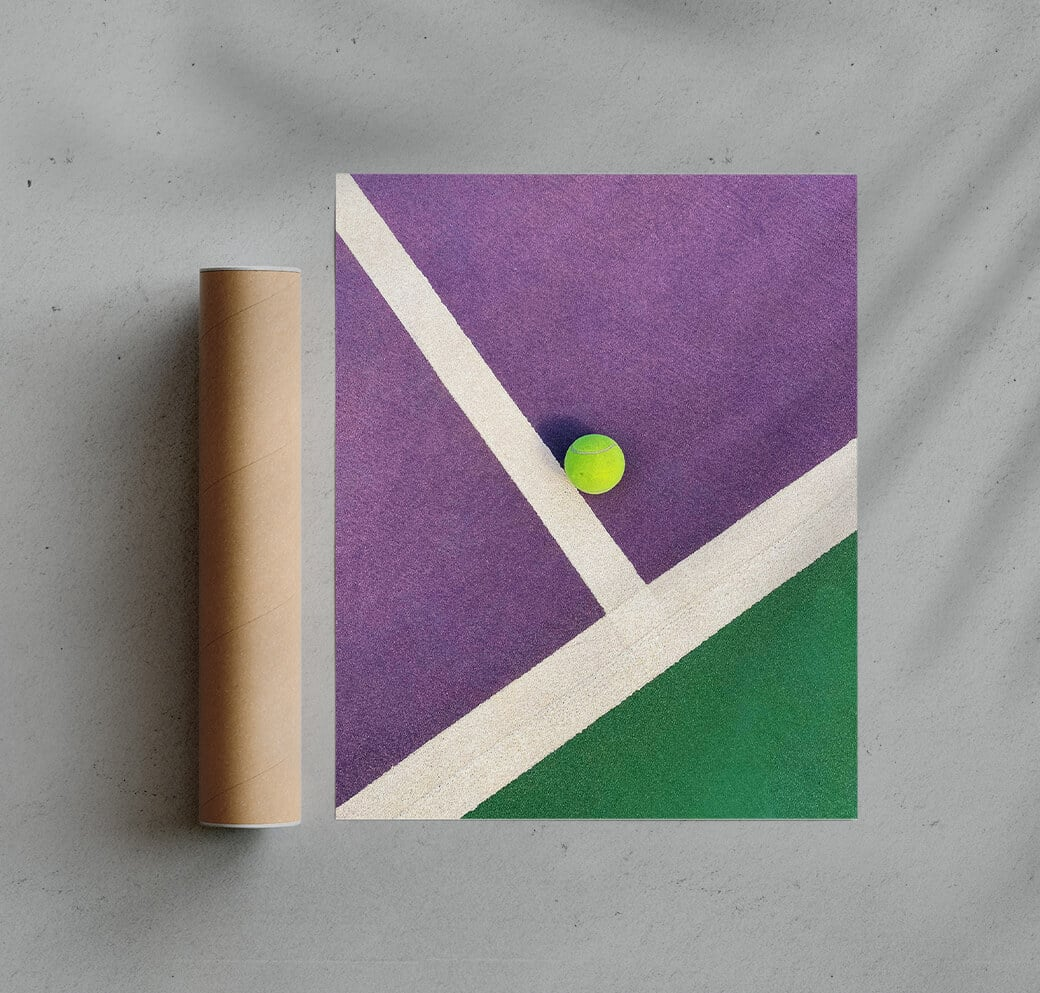Colourful Tennis Court Fine Art Print By Burak Boylu