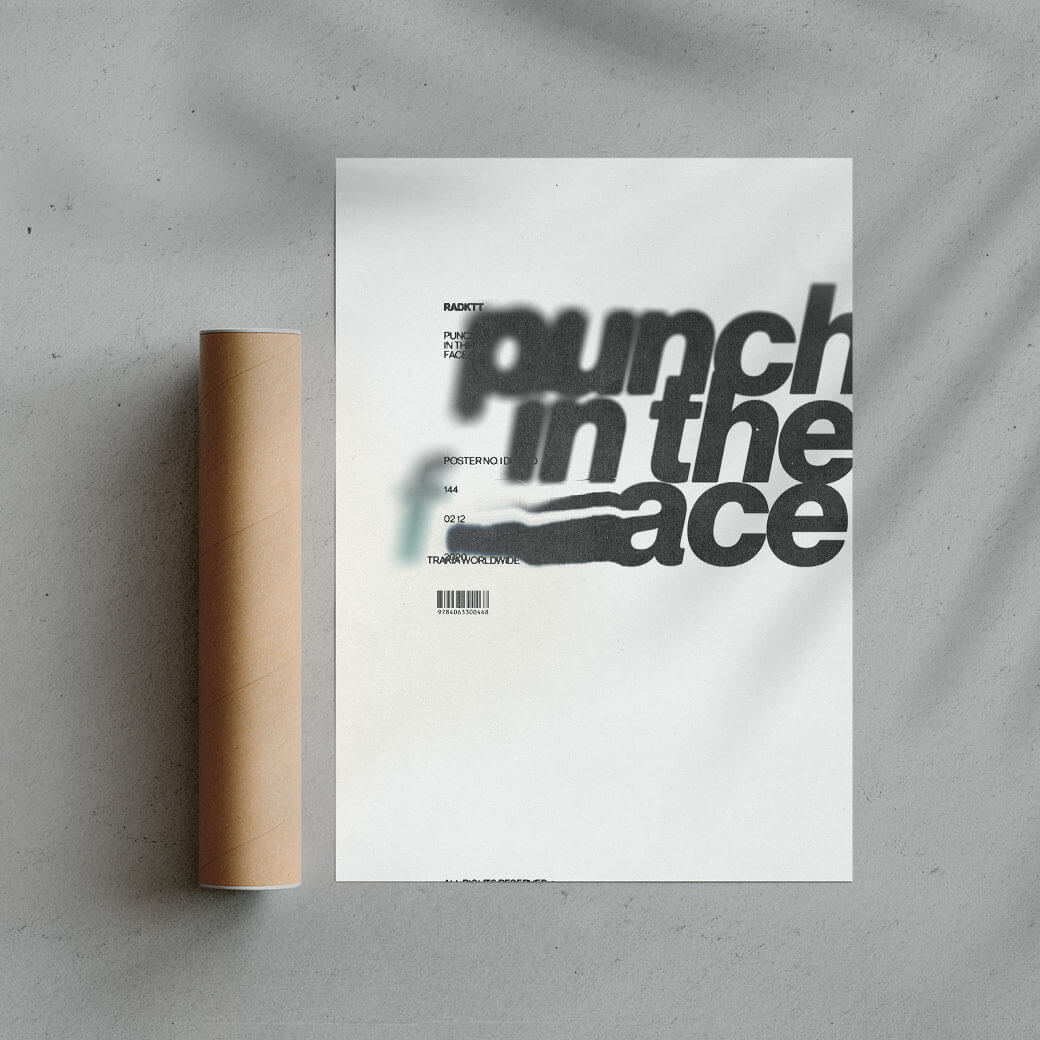 Punch In The Face Graphic Design Fine Art Print