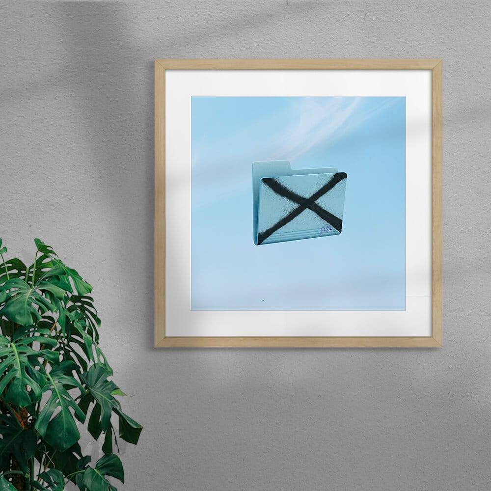Nope By Scott Kelly Framed Mounted Natural