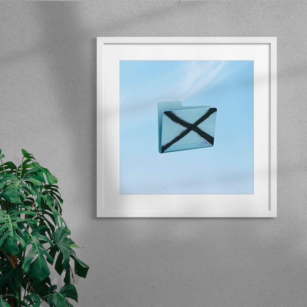 Nope By Scott Kelly Framed Mounted White