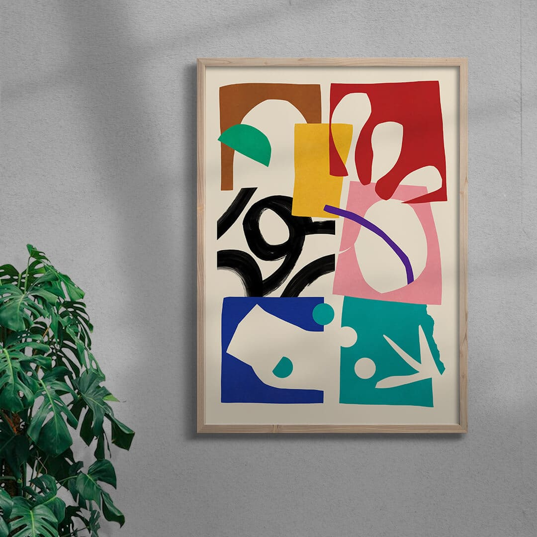 Paper Garden By Stell Paper Framed Natural