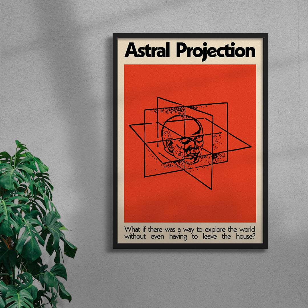 Astral Projection By George Kempster Framed Black
