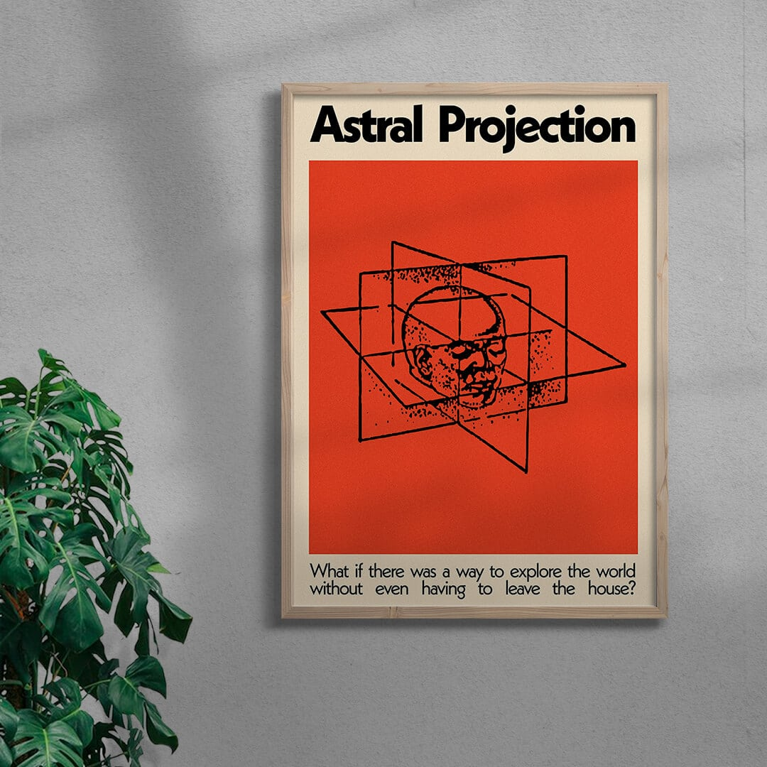 Astral Projection By George Kempster Framed Natural
