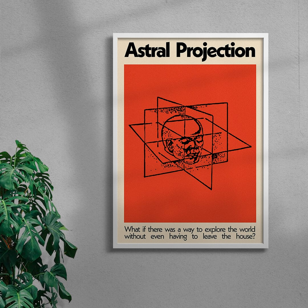 Astral Projection By George Kempster Framed Whiite
