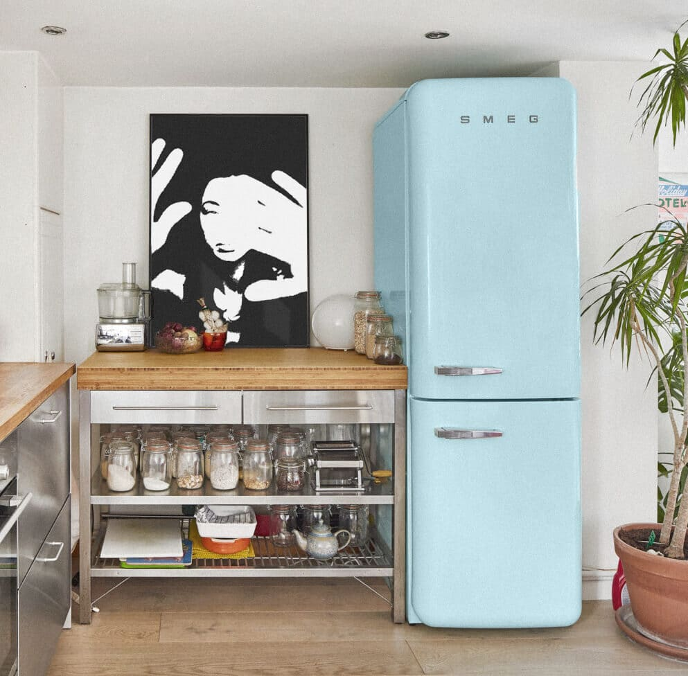 Boxed In By Sven Silk Framed On The Wall In Black Within An Industrial Kitchen