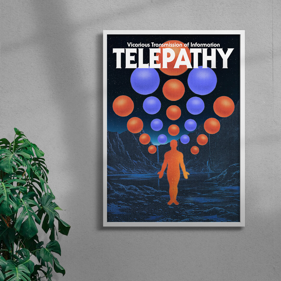 Telepathy By George Kempster Framed White