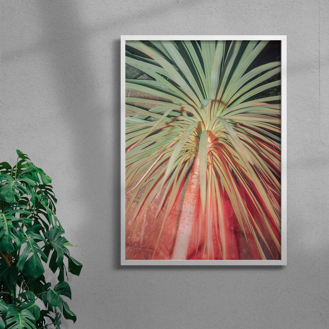 palm tree framed photography print by Andy Feltham