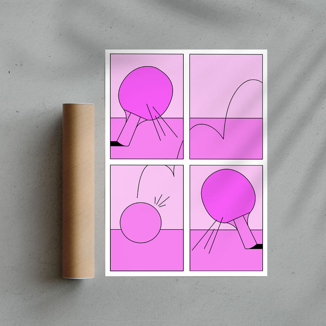 Ping Pong Game Fine Art Print By Petra