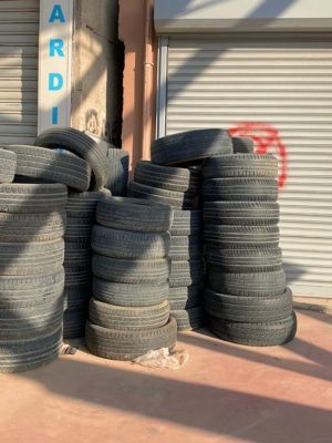 Tire Pile Photography Print